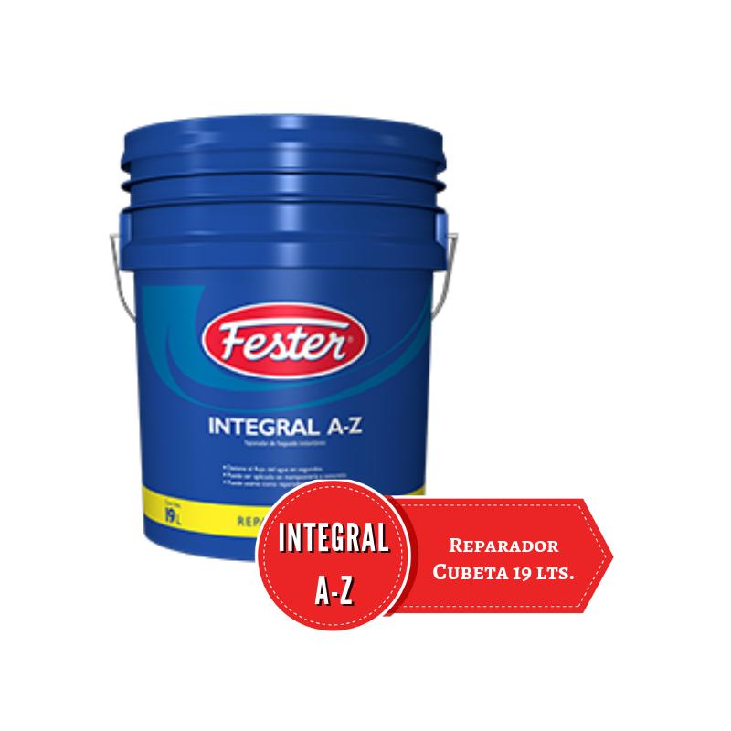 Cubeta azul 19 litros de reparador de concreto Integral AZ