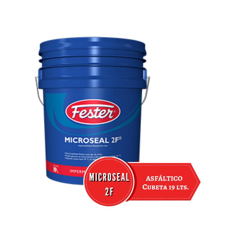 Cubeta azul 19 litros de impermeabilizante fibratado Microseal 2F