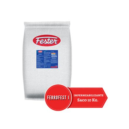 Saco blanco de 10 kilos de Impermeabilizante cementoso Ferrosfest I