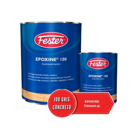 Unidad de Fester Epoxine 100 Gris Concreto