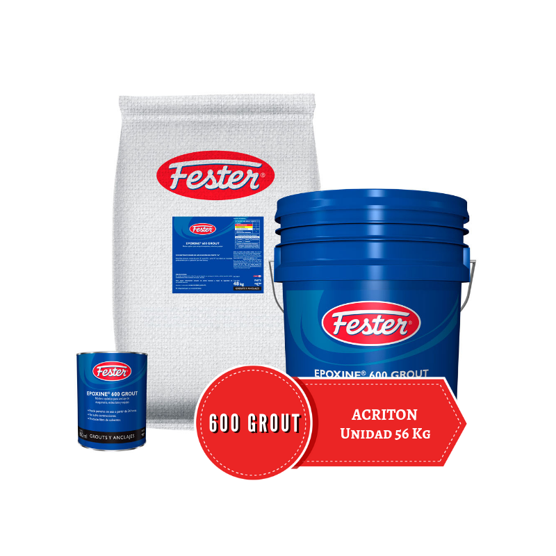 Unidad de 56 kg de Mortero Epoxico Fester Epoxine 600 grout