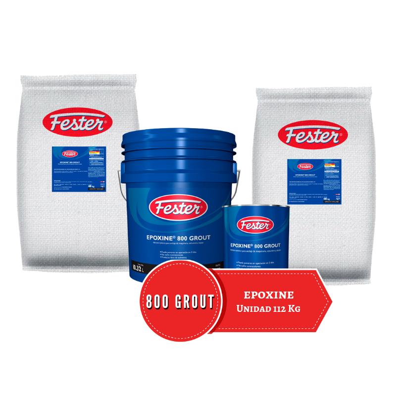 Unidad de 112 kg de mortero epoxico aminico Fester Epoxine 800 Grout